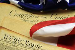 US Constitution We The People Historical Document - stock photo
