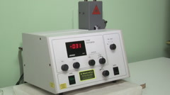 Laboratory weighing machine Stock Footage