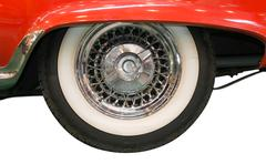 Close up of whitewall tire of classic car Stock Photos