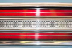 Rear light of car with symmetrical pattern. Stock Photos
