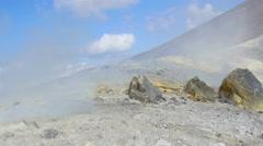 The active volcano islands at Lipari Italy: Sicilia, sicily Stock Footage