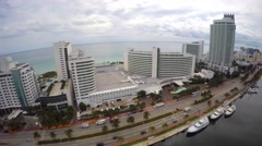 Fontainebleau Hotel Miami 4k Stock Footage
