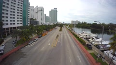 Aerial video Collins Avenue Miami Beach 4k Stock Footage