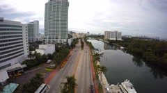 Aerial 4k Fontainebleau Hotel Miami Beach Stock Footage
