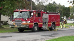 Fire Trucks, Fire Department, Emergency Response Vehicles Stock Footage