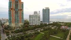 South Pointe Park 4k aerial Stock Footage