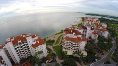 Aerial video Fisher Island Miami gopro 4 Stock Footage