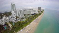 Aerial Miami Beach condominiums 4k Stock Footage