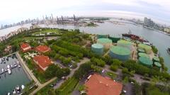 Fisher Island Miami Beach 4k aerial video Stock Footage