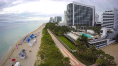 Miami Beach beachfront hotels 4k Stock Footage