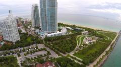 South Pointe Park Miami Beach 4k Stock Footage