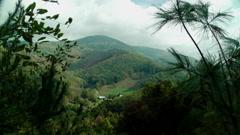Autumn mountain farm 1 Stock Footage