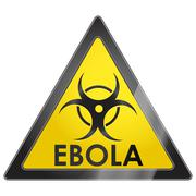 EBOLA virus warning sign - stock illustration