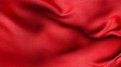 All flags red banner Stock Footage
