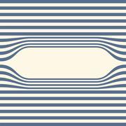 Abstract striped wallpaper frame. Vector Stock Illustration