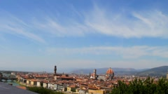 Landscape of the Florence, Italy Stock Footage