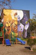 Stock Photo of Murals of San Miguel