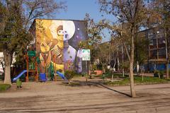 Murals of San Miguel Stock Photos