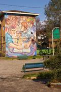 Murals of San Miguel - stock photo
