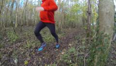 Cross country runner Stock Footage