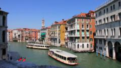 Stock Video Footage of View of the city  near Grand Canal  from Rialto Bridge. Venice. Italy