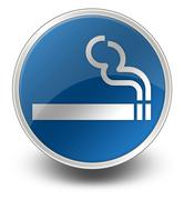 icon, button, pictogram smoking area - stock illustration