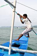 Young Asian Sailor - stock photo