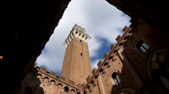Torre del Magia, Siena, Tuscany, Italy (time lapse) Stock Footage