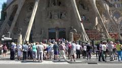Barcelona Spain Sagrada Familia construction climb HD 029 Stock Footage