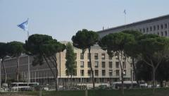 FAO of UN Headquarters, Rome, Italy 4k Stock Footage