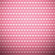 Heart shape vector seamless pattern (tiling) - stock illustration