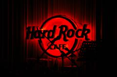 Red Hard Rock Cafe - stock photo