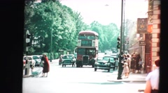 London travel, double decker bus Stock Footage