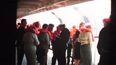 Lifeboat drill, abandon ship Stock Footage