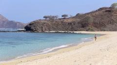 Deserted beach. - stock footage