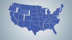 US States Map Build Animation - stock footage