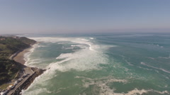 2,7K aerial view of big waves breaking on the coast 2 Stock Footage