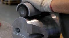 Industrial details, metal beveling Stock Footage