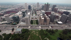 Stock Video Footage of St. Louis from the Top of the Gateway Arch