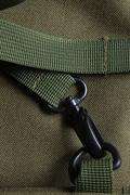 Tactical holdall army bag clasp - stock photo