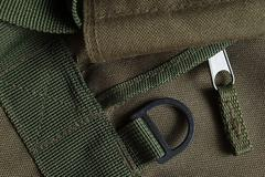 Tactical holdall army bag detail - stock photo