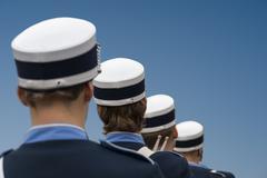 Men in marching band Kuvituskuvat