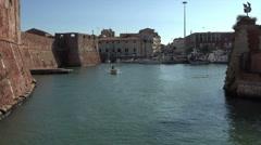 Livorno Italy marina fishing boat HD 012 Stock Footage