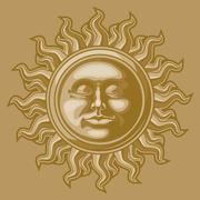 Stock Illustration of Old-fashioned sun decoration