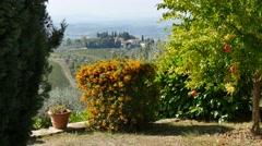 Tuscan village, Siena, Tuscany, Italy Stock Footage
