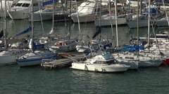 Livorno Italy marina sailboat yachts HD 011 Stock Footage