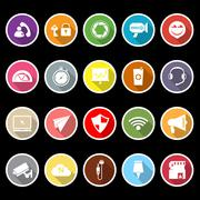 Smart phone screen flat icons with long shadow Piirros