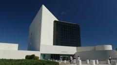 4K JFK Presidential Library Exterior Boston Massachusetts  Stock Footage