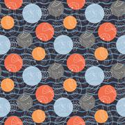 Stock Illustration of Marine pattern with polka dots