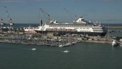 Livorno Italy marina port harbor pan HD 008 Stock Footage